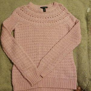 Medium Ralph Lauren pink knit sweater